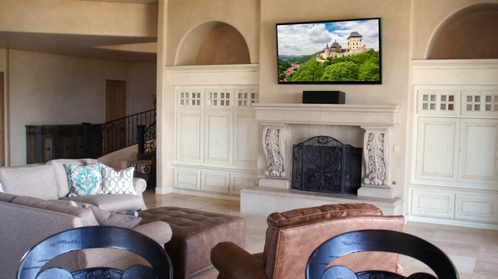 "Samsung 75"" 4K TV in Living Room"